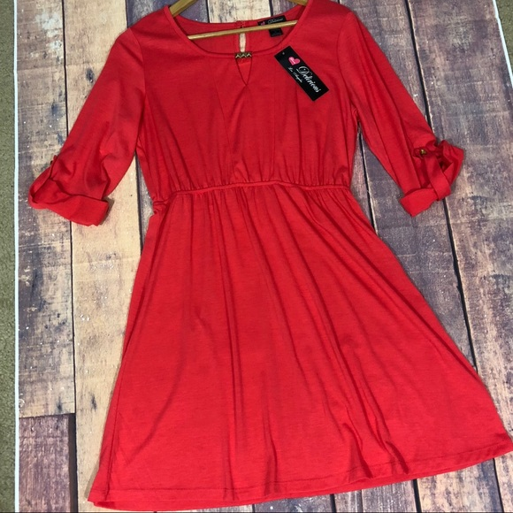 Delirious Dresses Redorange Dress Juniors Plus Size Xl Poshmark